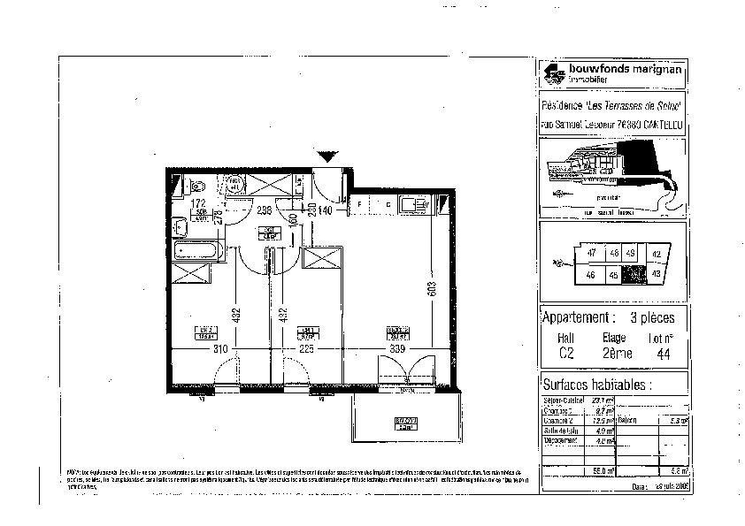 Appartement à louer 3 55m2 à Canteleu vignette-3