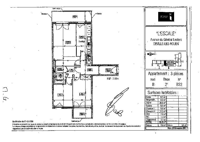 Appartement à louer 3 68m2 à Déville-lès-Rouen vignette-8