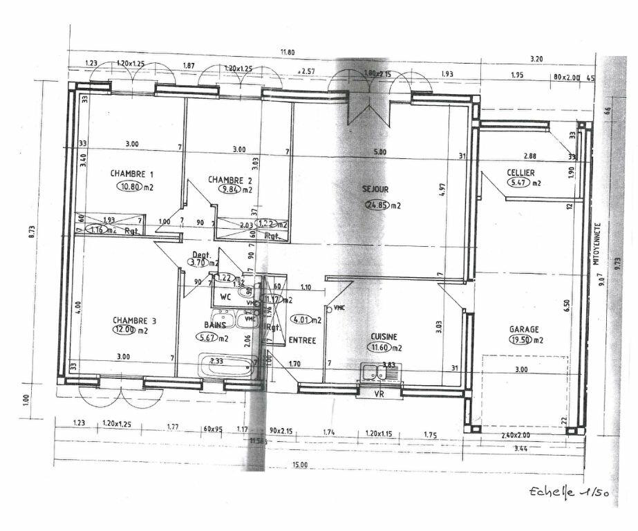 Maison à louer 4 92.71m2 à La Bachellerie plan-1