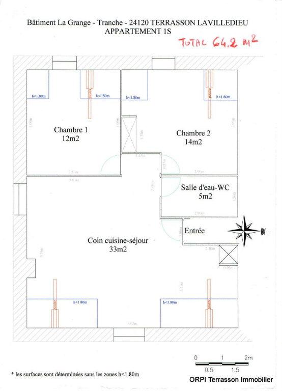 Appartement à louer 3 64m2 à Terrasson-Lavilledieu plan-1