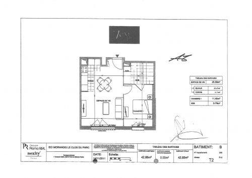 Appartement à louer 2 42.97m2 à Morangis vignette-6