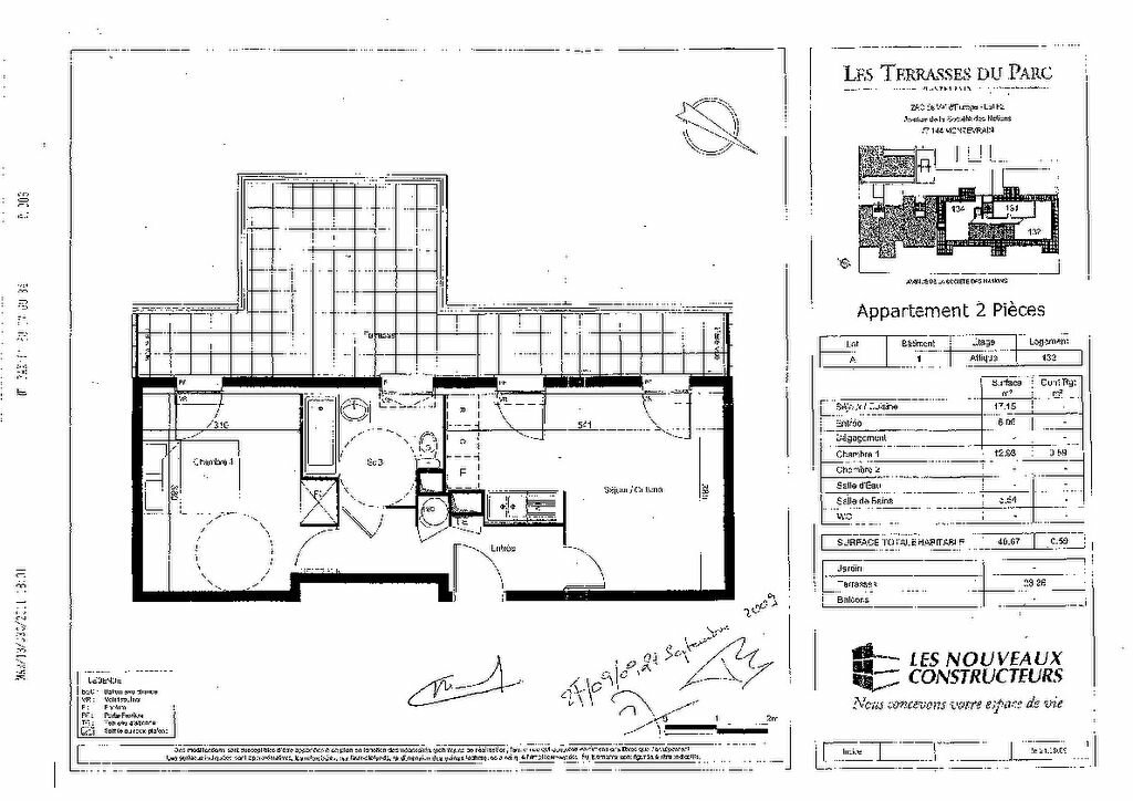 Appartement à louer 2 41.26m2 à Montévrain vignette-7