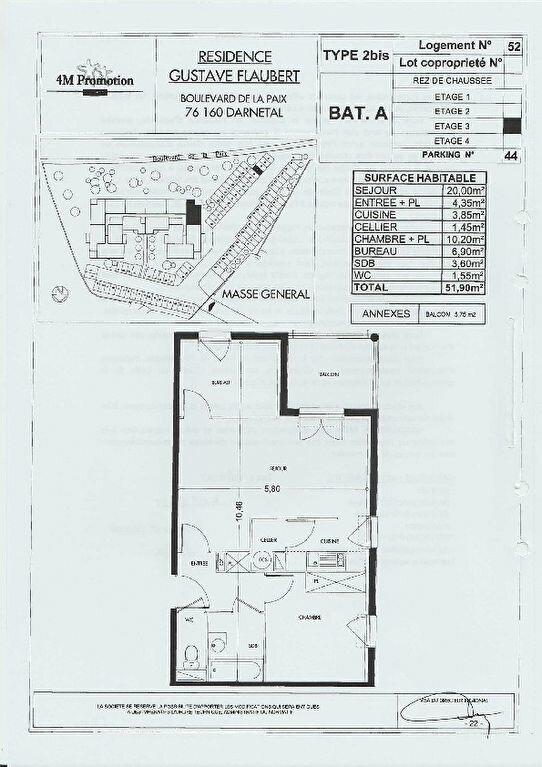 Appartement à louer 2 51.9m2 à Darnétal vignette-9
