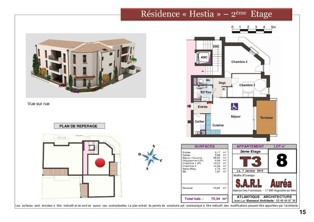 Appartement à vendre 3 72.3m2 à La Rochelle plan-1