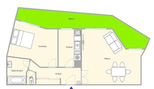 Appartement à vendre 2 51.75m2 à Mandelieu-la-Napoule plan-1