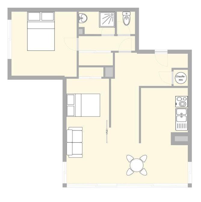 Appartement à vendre 3 52.03m2 à Mandelieu-la-Napoule plan-1
