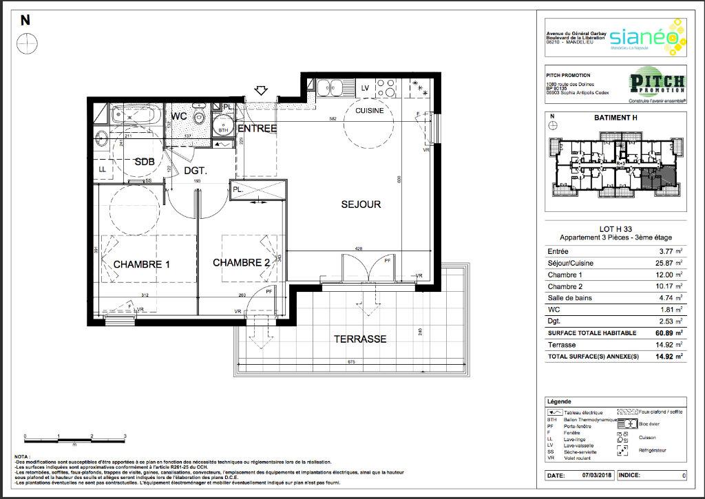 Appartement à vendre 3 60.83m2 à Mandelieu-la-Napoule vignette-4