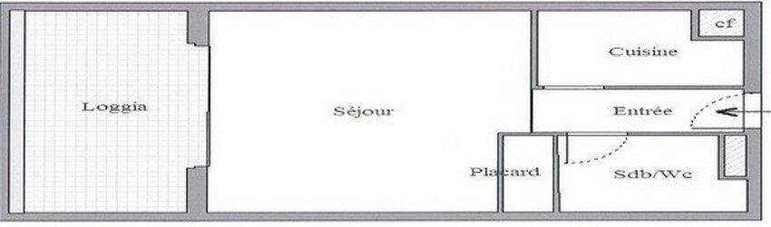 Appartement à louer 1 36m2 à La Grande-Motte vignette-4