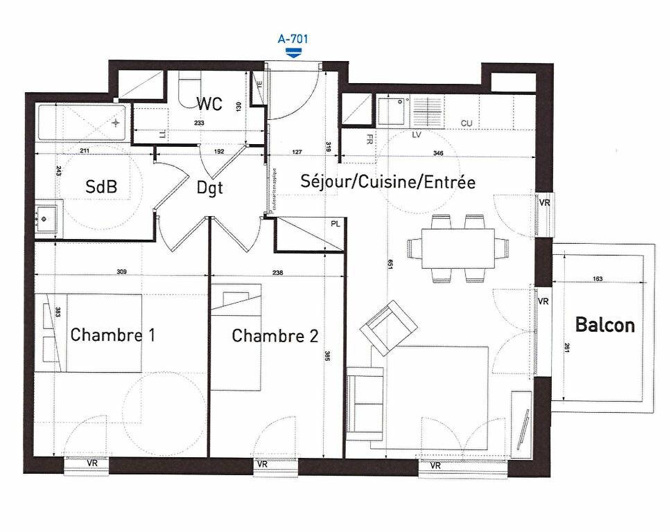 Appartement à louer 3 57.3m2 à Évry vignette-7
