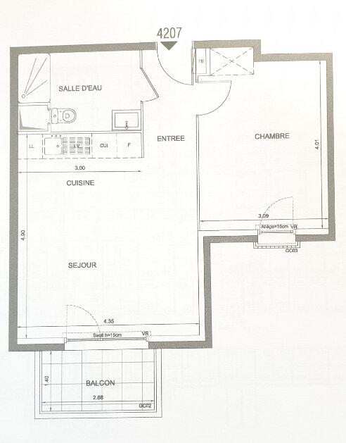 Appartement à louer 2 42m2 à Le Bourget vignette-2