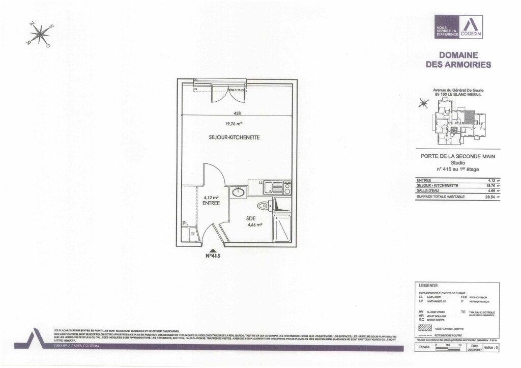 Appartement à louer 1 28.54m2 à Le Blanc-Mesnil vignette-2