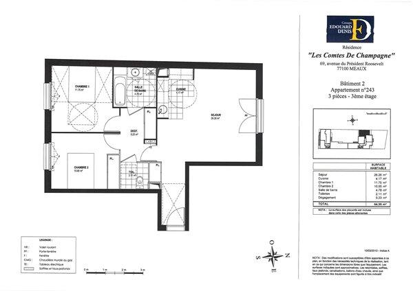 Appartement à louer 3 64.95m2 à Meaux vignette-7