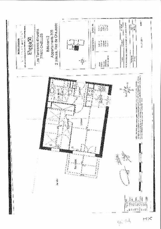 Appartement à louer 2 43m2 à Chelles plan-1
