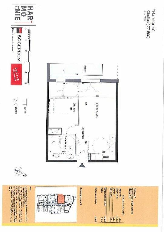 Appartement à louer 2 44m2 à Chelles plan-1
