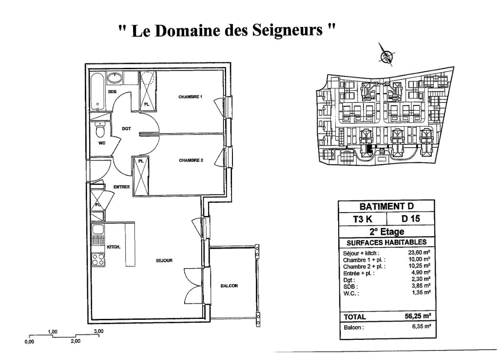 Appartement à louer 3 56.25m2 à Carcassonne plan-1