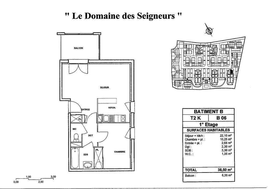 Appartement à louer 2 38.5m2 à Carcassonne plan-1