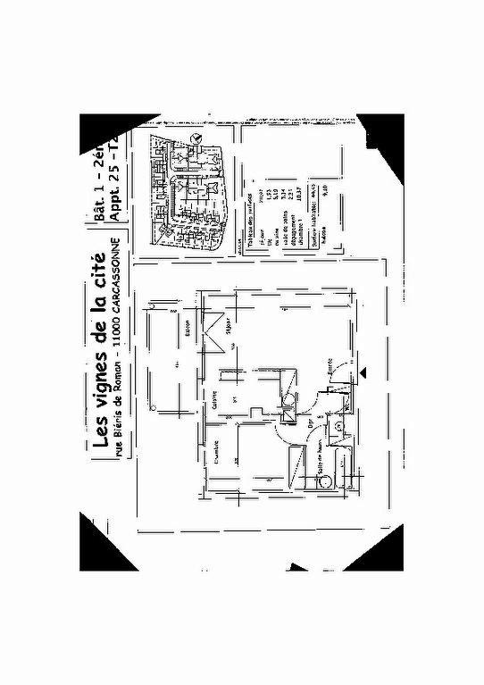 Appartement à louer 2 44.45m2 à Carcassonne plan-1
