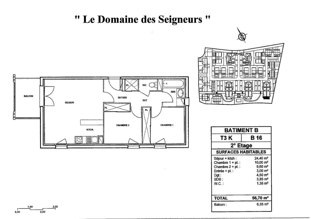 Appartement à louer 3 56.7m2 à Carcassonne plan-1
