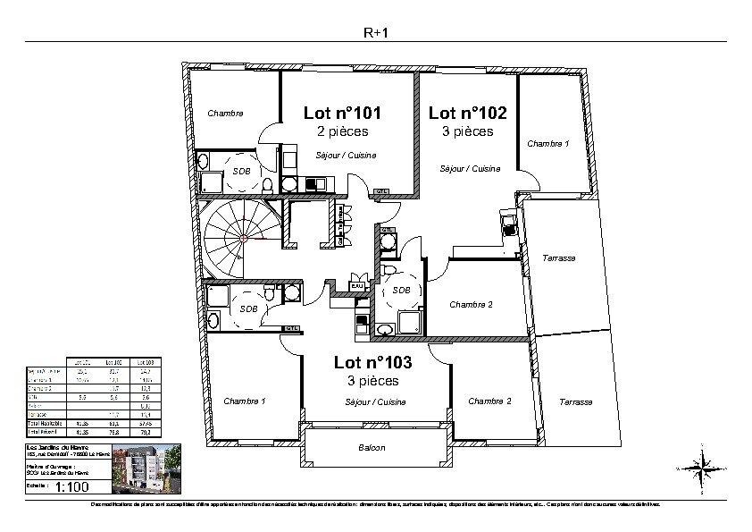 Appartement à vendre 3 57.45m2 à Le Havre vignette-2