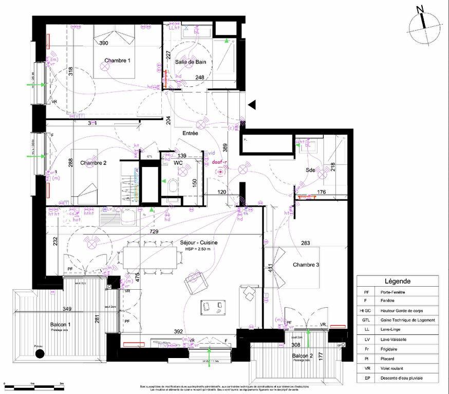 Appartement à vendre 4 83m2 à Villeurbanne vignette-2