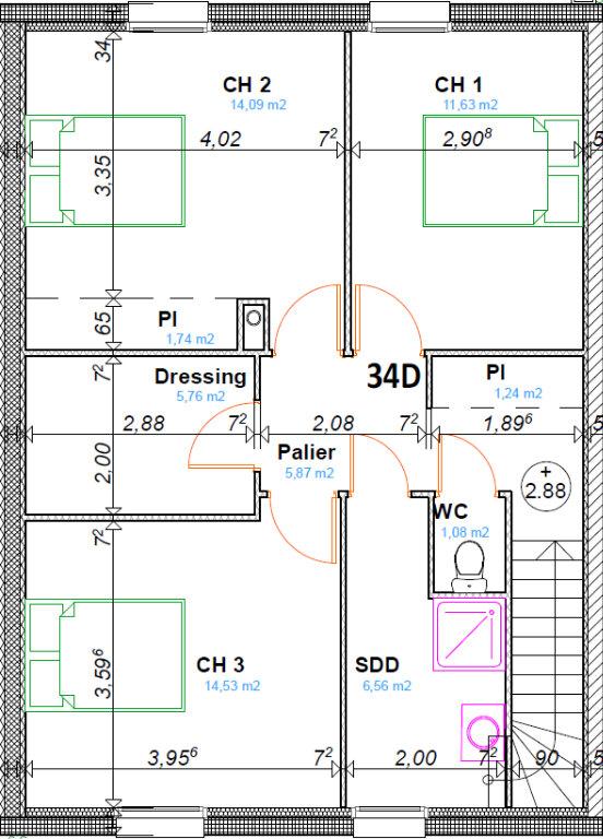 Maison à vendre 4 107.65m2 à Roye vignette-3