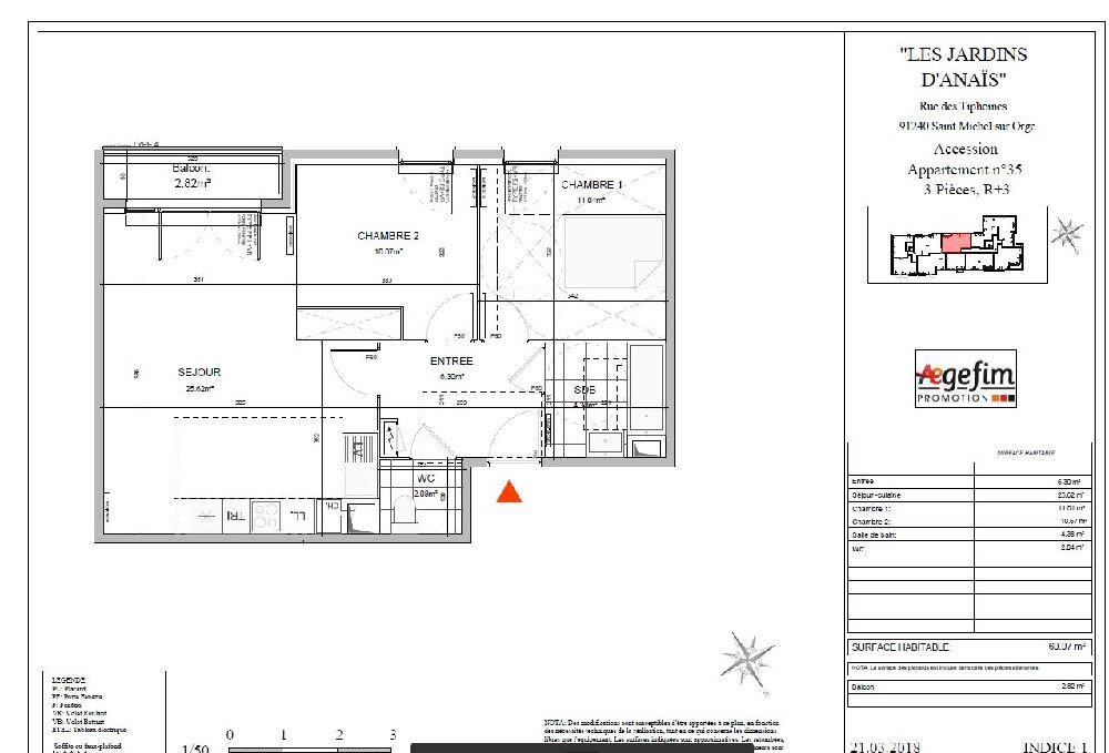 Appartement à louer 3 60.07m2 à Saint-Michel-sur-Orge vignette-2