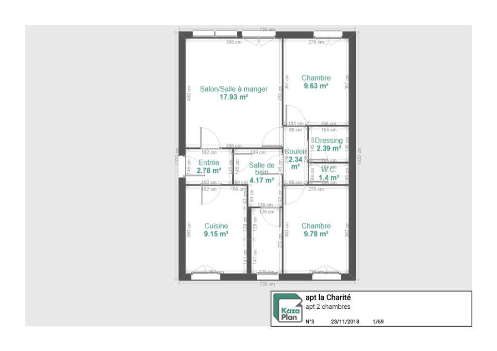 Appartement à vendre 3 59.38m2 à La Charité-sur-Loire vignette-8