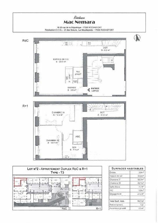 Appartement à vendre 3 93.7m2 à Rochefort plan-1
