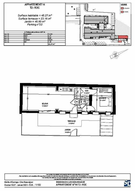 Appartement à vendre 2 52.77m2 à Rochefort vignette-2
