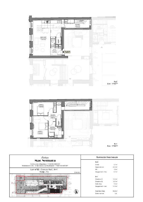 Appartement à vendre 3 93.7m2 à Rochefort vignette-2