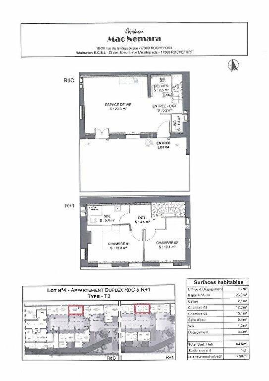 Appartement à vendre 3 64.5m2 à Rochefort vignette-2