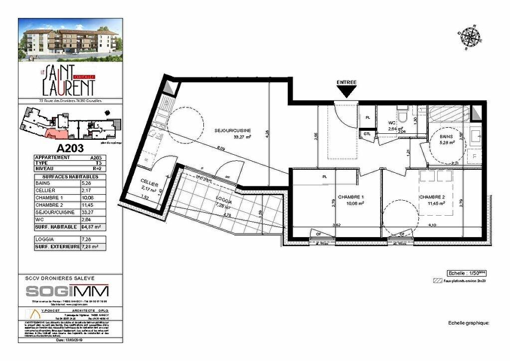 Appartement à vendre 3 64m2 à Cruseilles plan-1