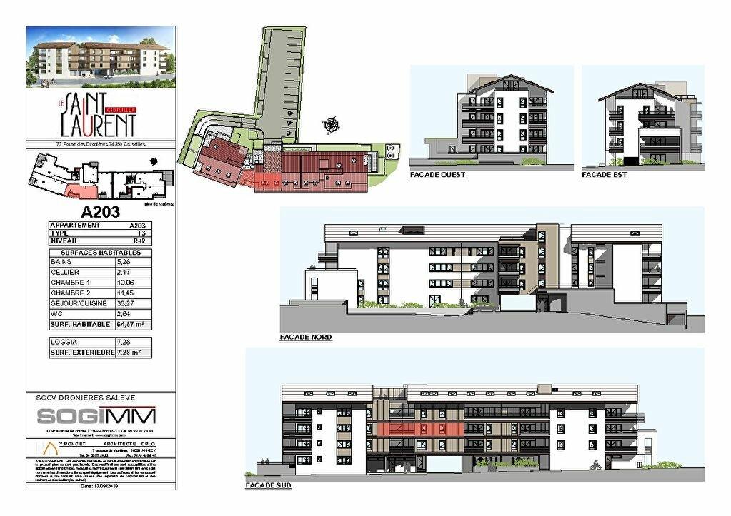 Appartement à vendre 3 64m2 à Cruseilles plan-2