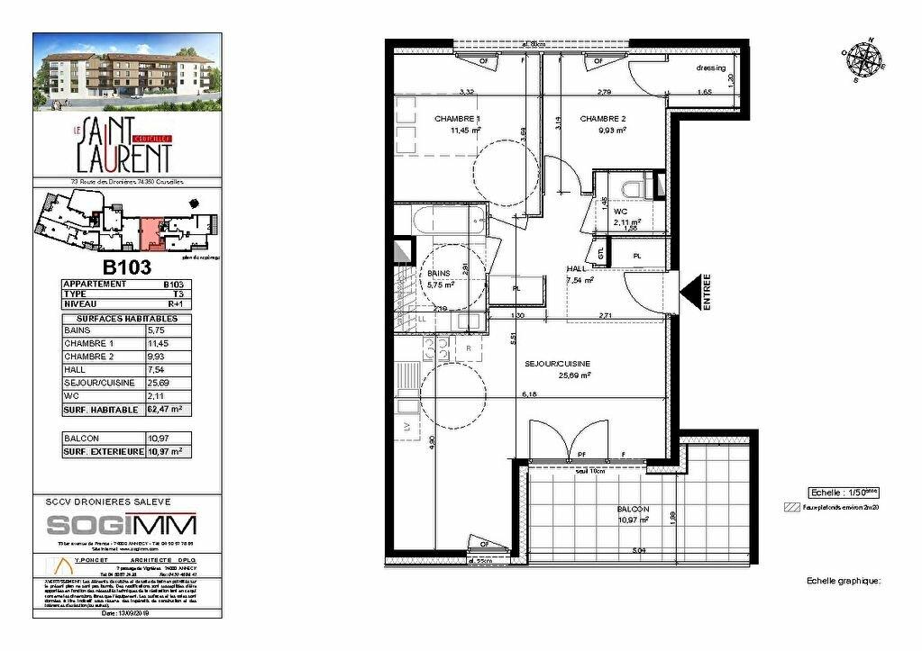 Appartement à vendre 3 62m2 à Cruseilles plan-1