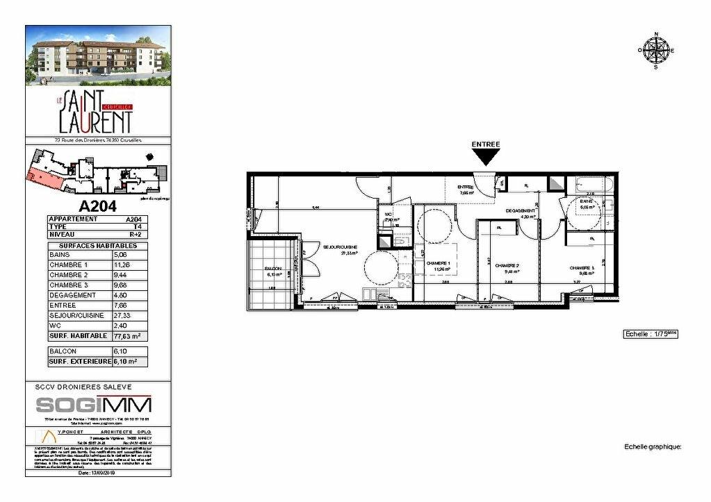 Appartement à vendre 4 77m2 à Cruseilles plan-1