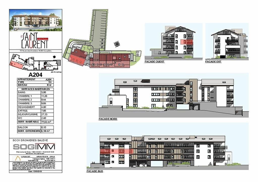 Appartement à vendre 4 77m2 à Cruseilles plan-2