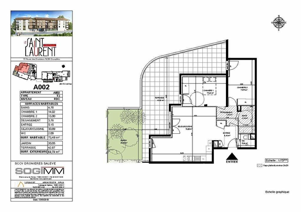 Appartement à vendre 3 73m2 à Cruseilles plan-1