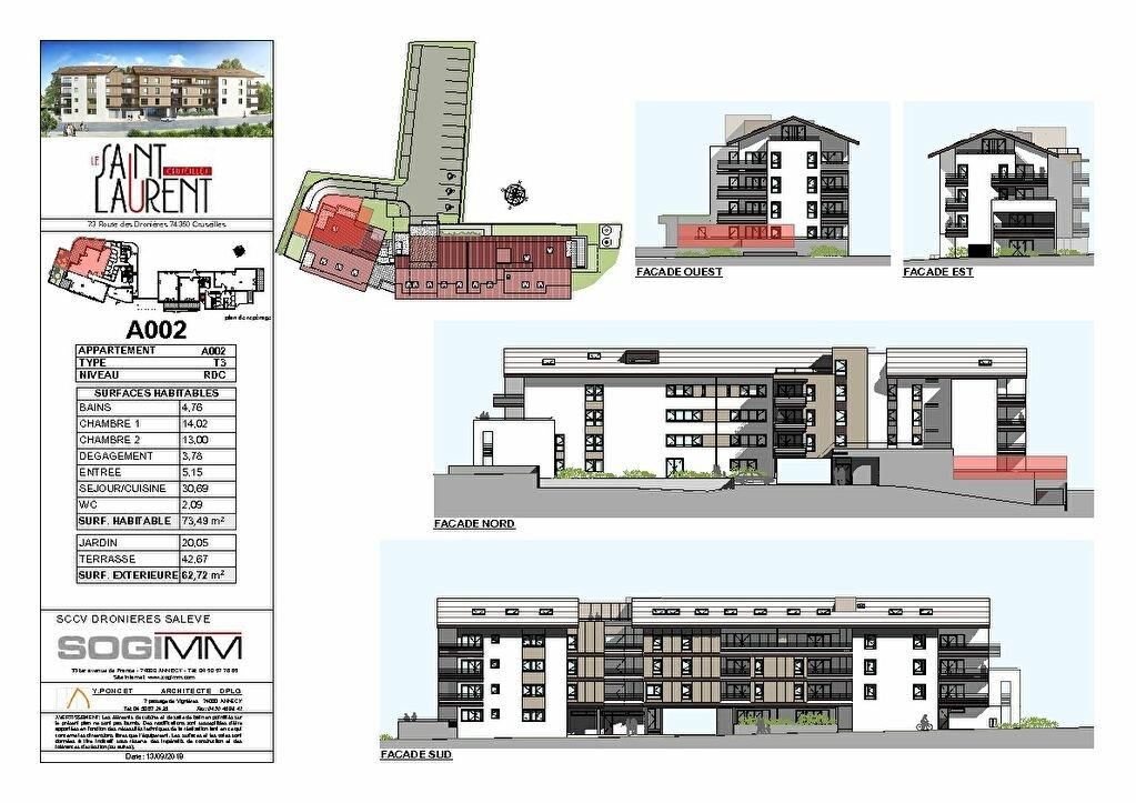 Appartement à vendre 3 73m2 à Cruseilles plan-2