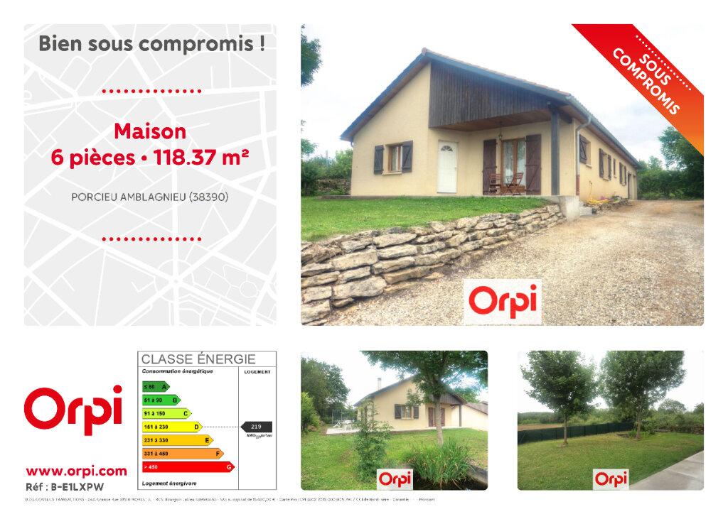 Maison à vendre 6 118.37m2 à Porcieu-Amblagnieu vignette-1