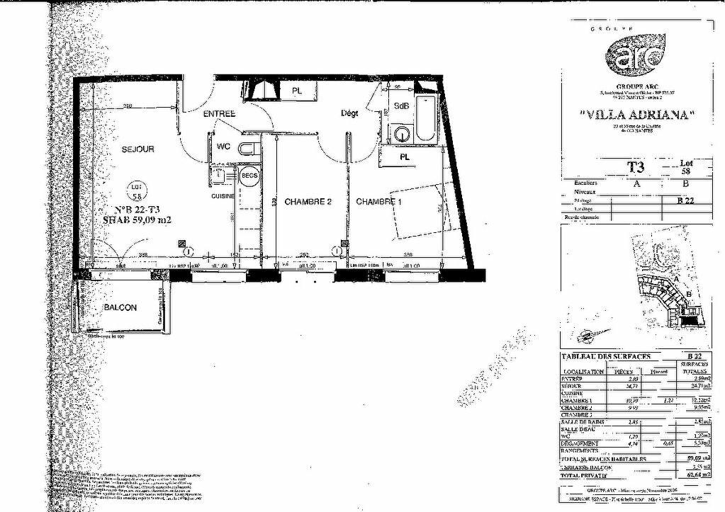 Appartement à vendre 3 58.96m2 à Nantes plan-3