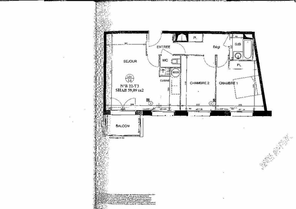 Appartement à vendre 3 58.96m2 à Nantes plan-4