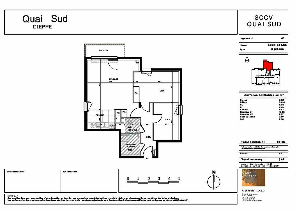 Appartement à vendre 3 64.36m2 à Dieppe plan-1