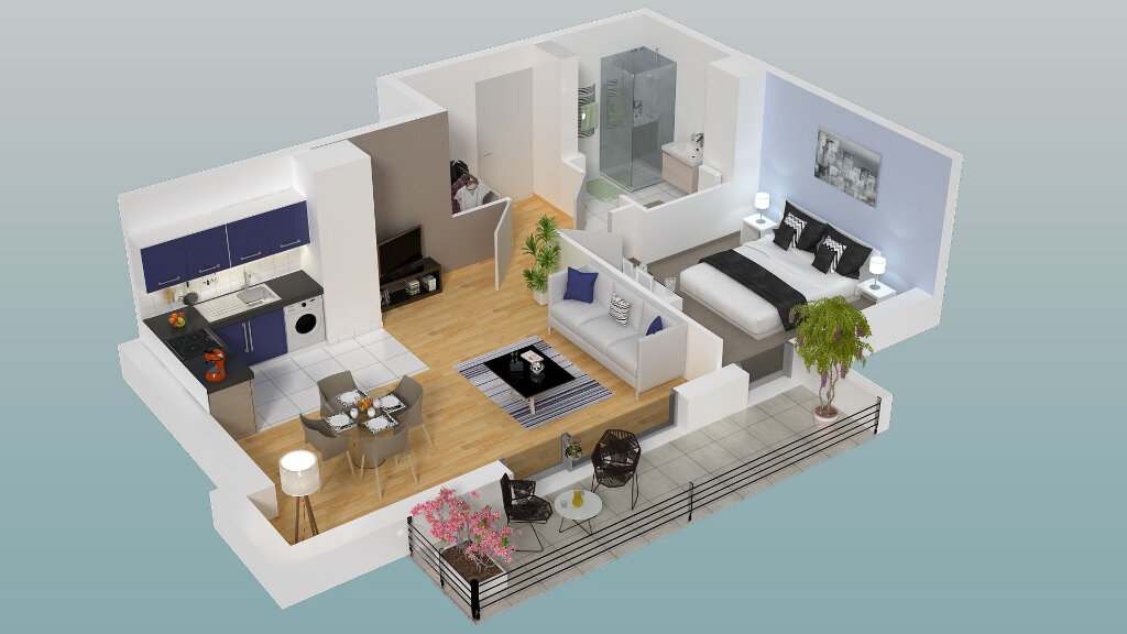 Appartement à vendre 2 45.63m2 à Dieppe vignette-2