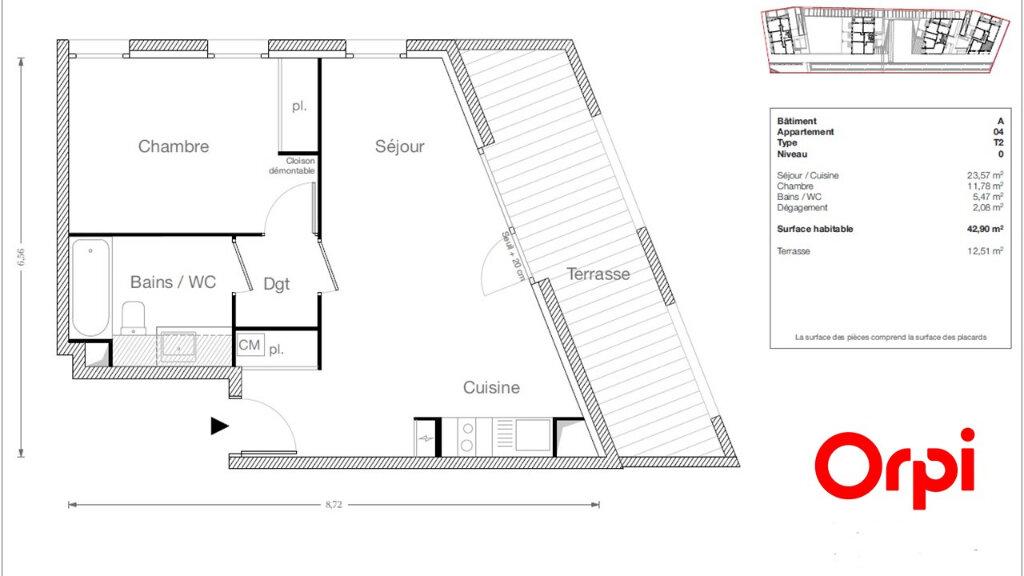 Appartement à vendre 2 42.9m2 à Ecquevilly vignette-1