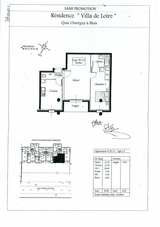 Appartement à louer 2 54.8m2 à Blois vignette-7