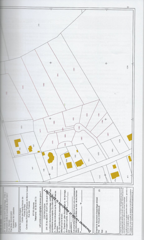 Terrain à vendre 0 1336m2 à Sainte-Anne plan-2