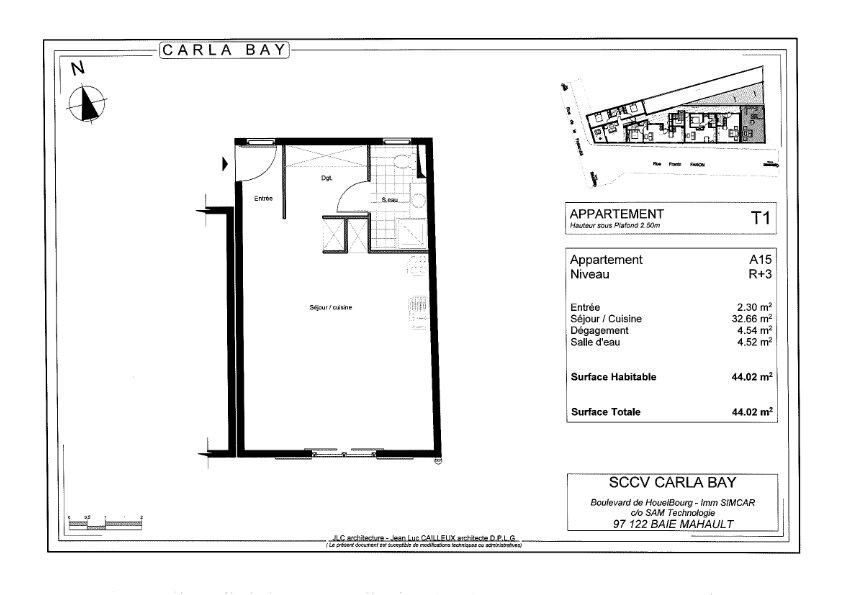 Appartement à vendre 1 64.02m2 à Saint-François vignette-3