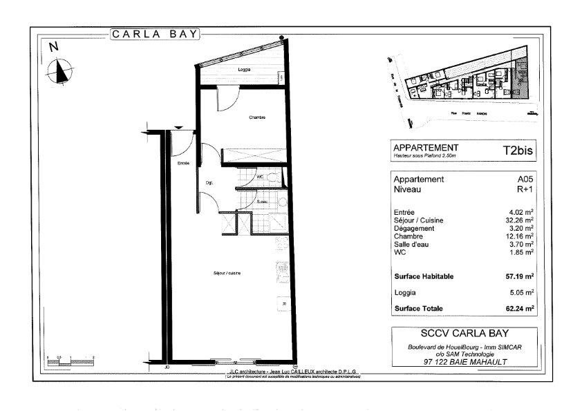 Appartement à vendre 2 64.02m2 à Saint-François vignette-3