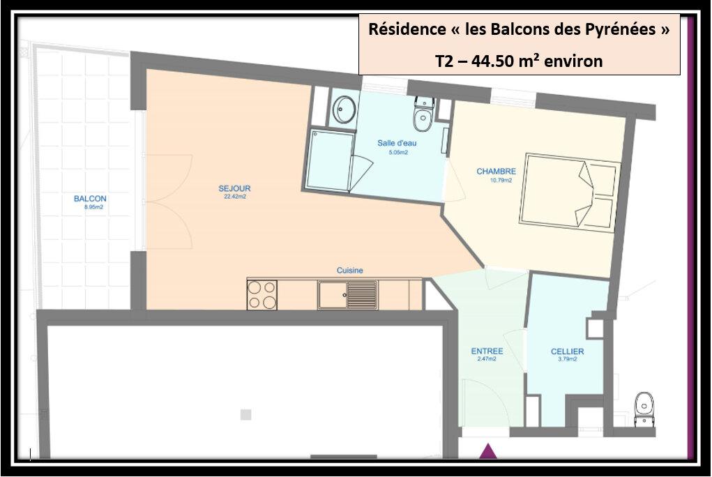 Appartement à vendre 3 44.5m2 à Pau vignette-2