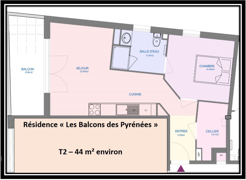 Appartement à vendre 3 44m2 à Pau vignette-2